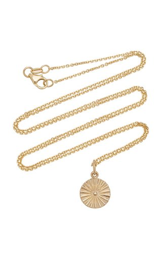 Wheel 14K Gold Necklace