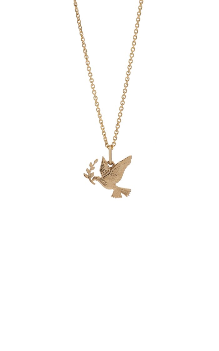 Peace 14K Gold Necklace