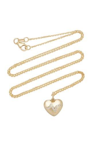 Heartbeat 14K Gold Diamond Necklace