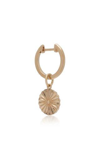 Wheel 14K Gold Earring
