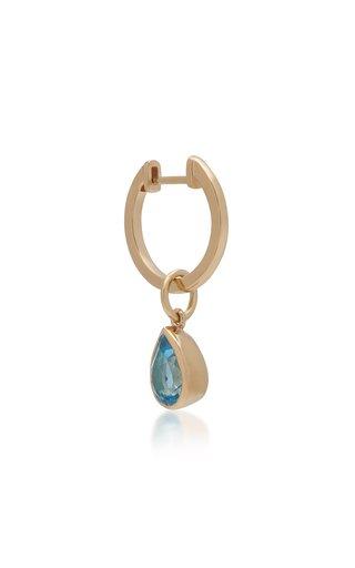 Water Drop 14K Gold Topaz Earring