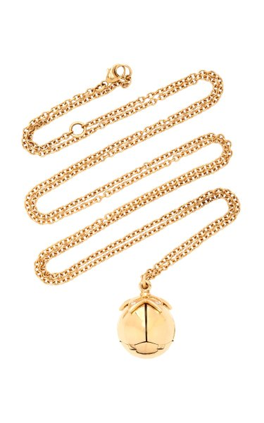 14K Gold, Enamel And Diamond Necklace