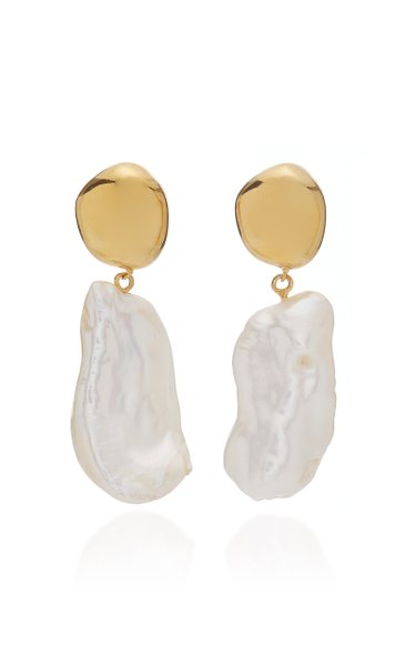 Patrice Gold Vermeil Pearl Earrings