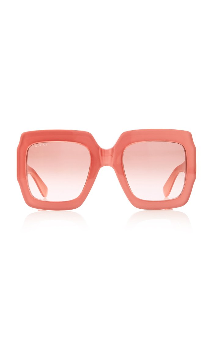 Pop Web Acetate Square-Frame Sunglasses