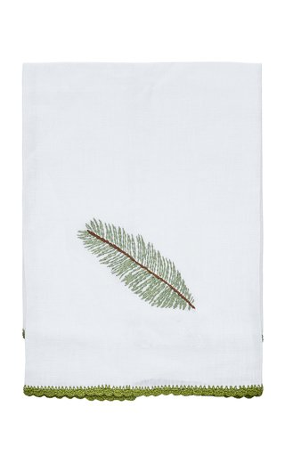 Hand-Embroidered Linen Guest Towel