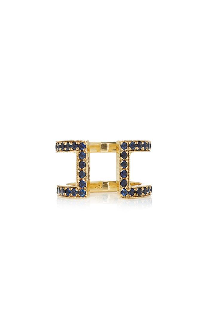 Korali 18K Gold Sapphire Ring