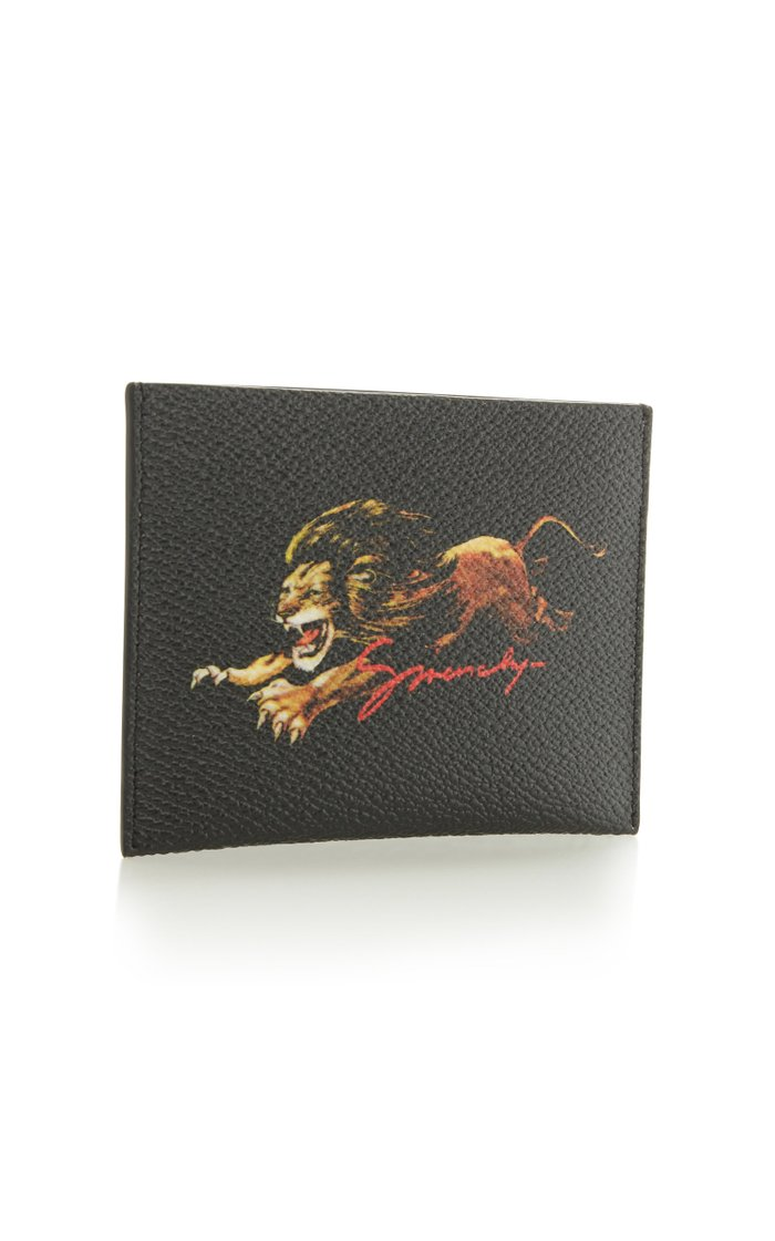 Leo Printed Coated-Canvas Cardholder