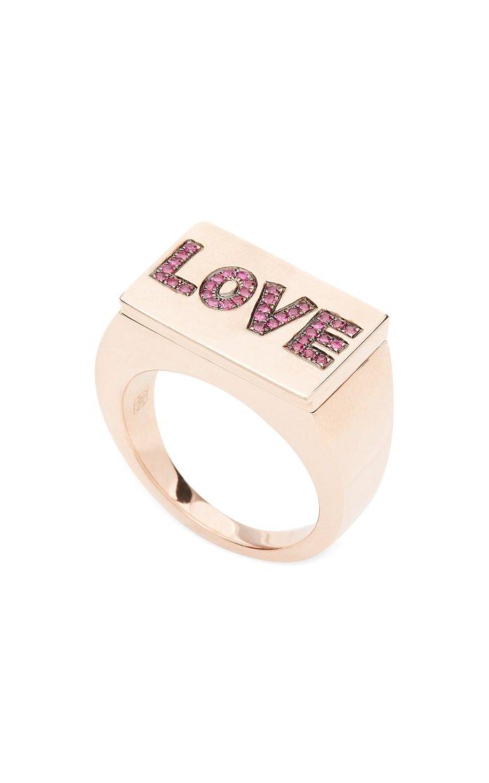 9K Gold Ruby Ring