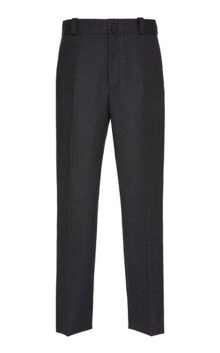 Side Striped Wool-Flannel Trousers