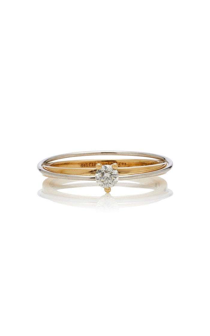 Two-In-One 18K Gold Diamond Ring