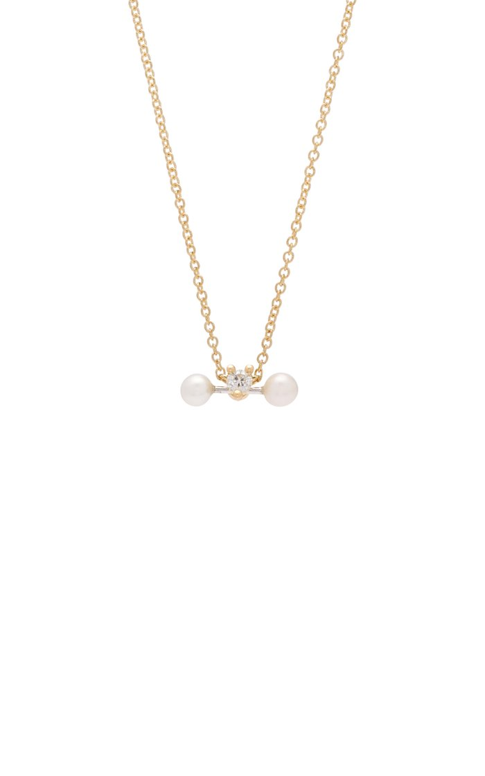 Convertible 18K Gold, Diamond and Pearl Necklace