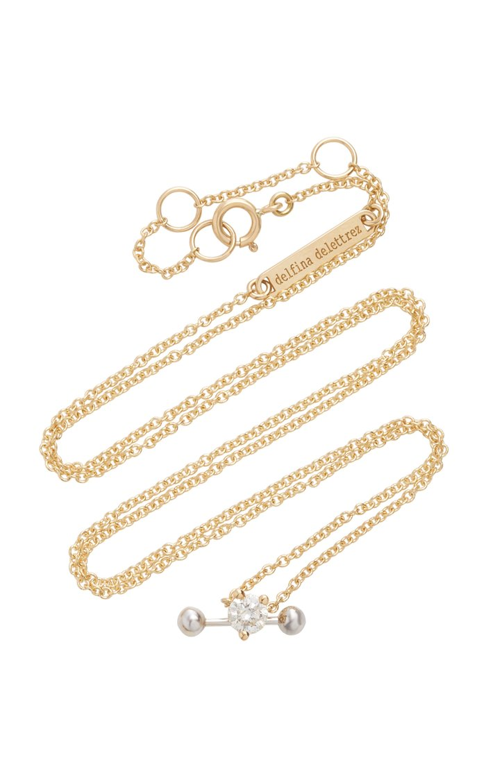 Convertible 18K Gold Diamond Necklace