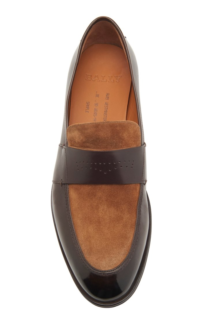 Wenis Leather and Suede Loafers