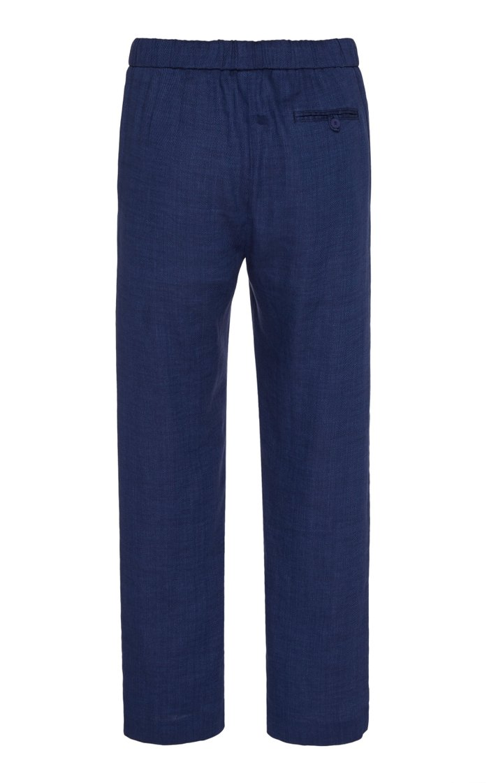 Slim-Fit Linen Trousers