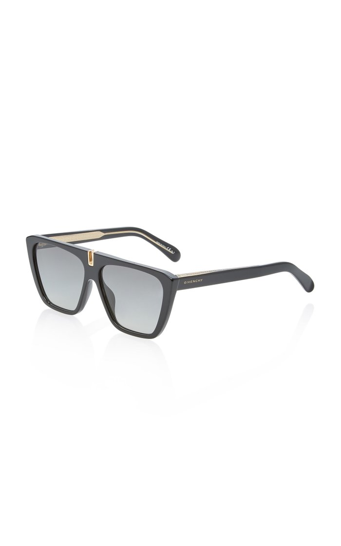Oversized Acetate Square-Frame Sunglasses