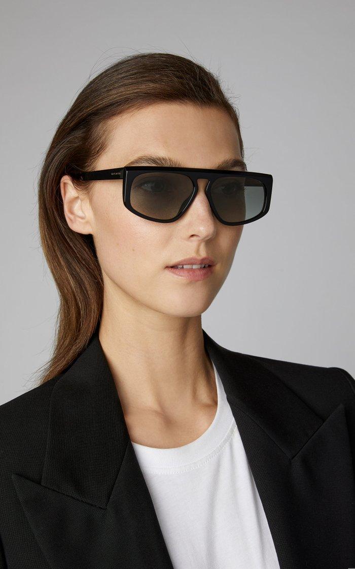 Shield Acetate Square-Frame Sunglasses
