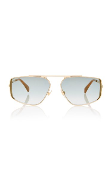 Metal Aviator-Style Sunglasses