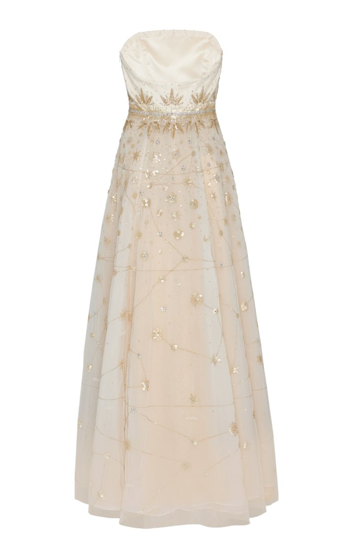 Powder Constellation Silk Gown