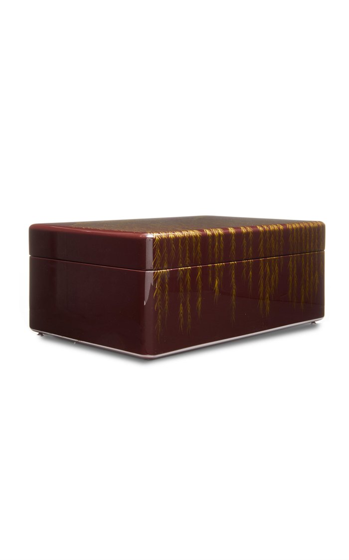 Willow Large Printed Lacquer Box