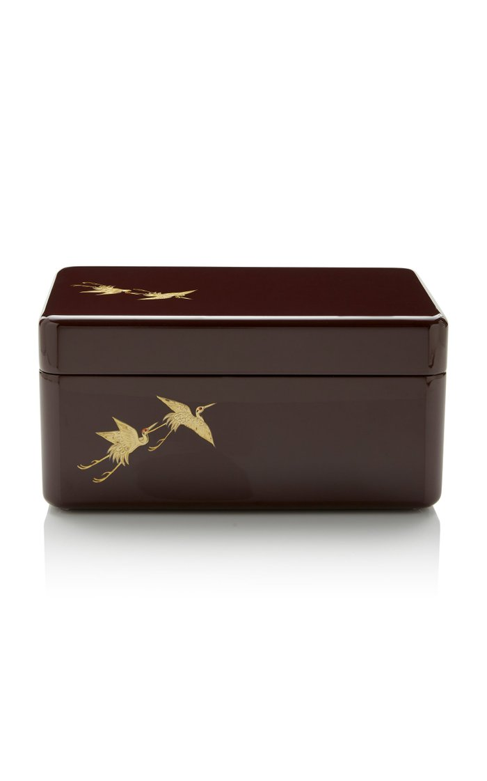 Medium Printed Lacquer Box