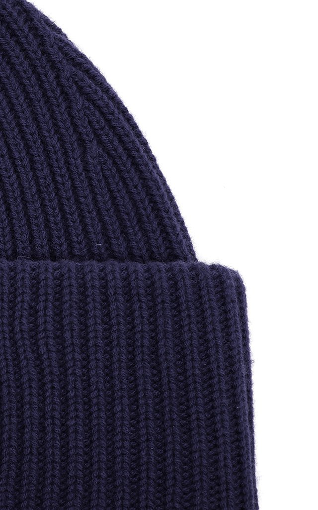 Appliquéd Ribbed Wool Beanie