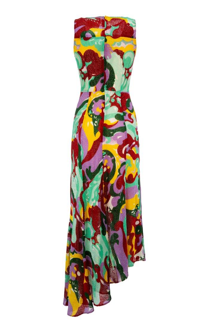 Pina Printed Silk-Blend Dress