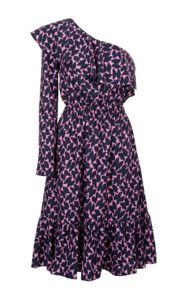 Boogie Printed Crepe Midi Dress