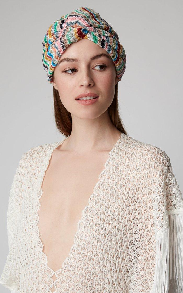Striped Stretch-Knit Headwrap