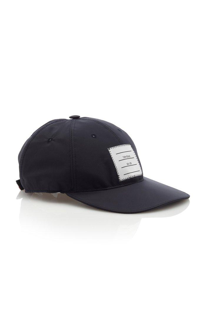Logo-Patch Shell Baseball Cap