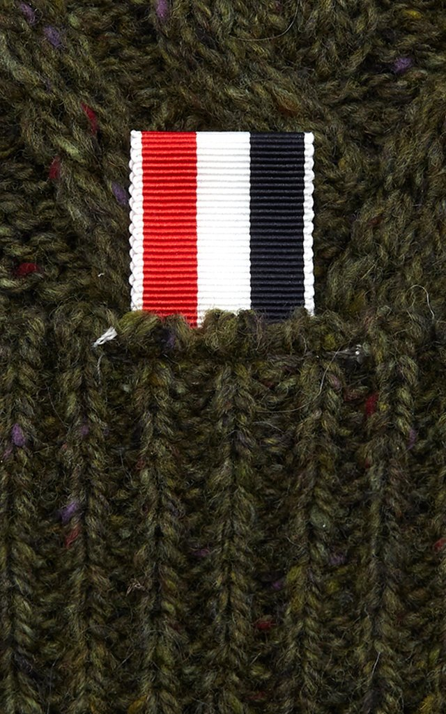 Aran Cable-Knit Wool Beanie