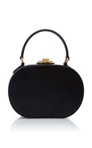 Small Gianna Leather Oval Bag