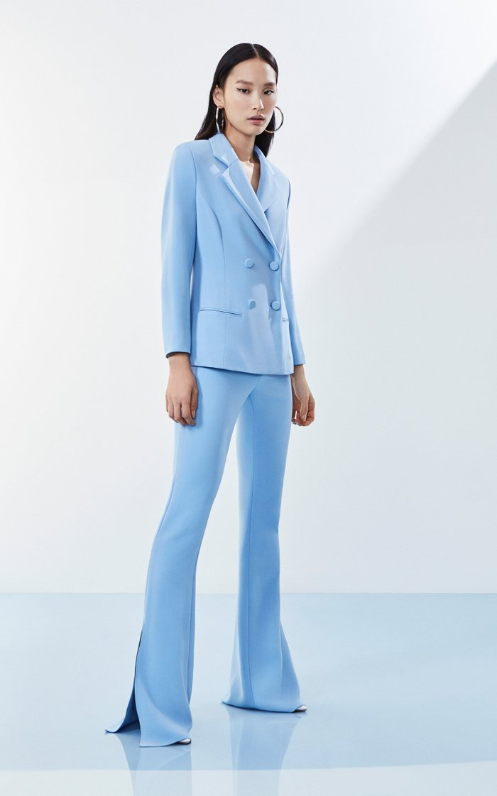 High-Rise Flared Stretch-Crepe Pants