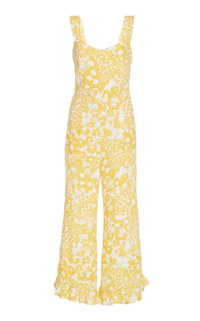 Kasbah Floral-Print Crepe Jumpsuit