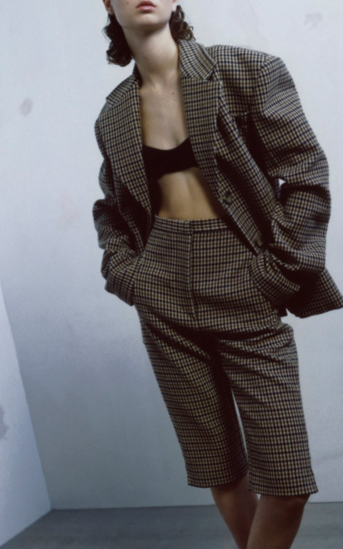 Kendall Checked Wool-Blend Blazer