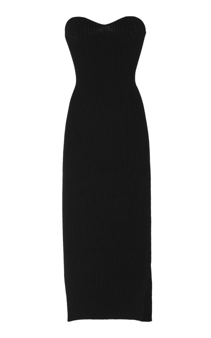 Loie Ribbed Stretch-Knit Midi Dress