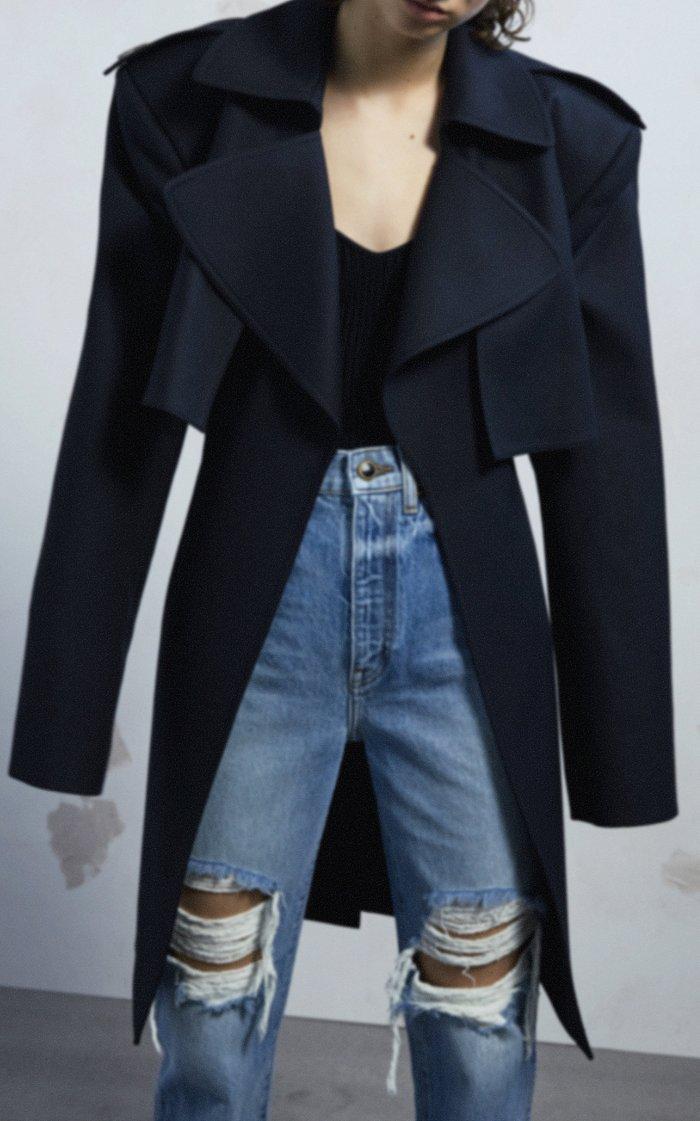 Danielle Distressed High-Rise Straight-Leg Jeans