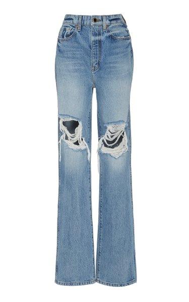 Danielle Distressed Rigid High-Rise Slim-Leg Jeans