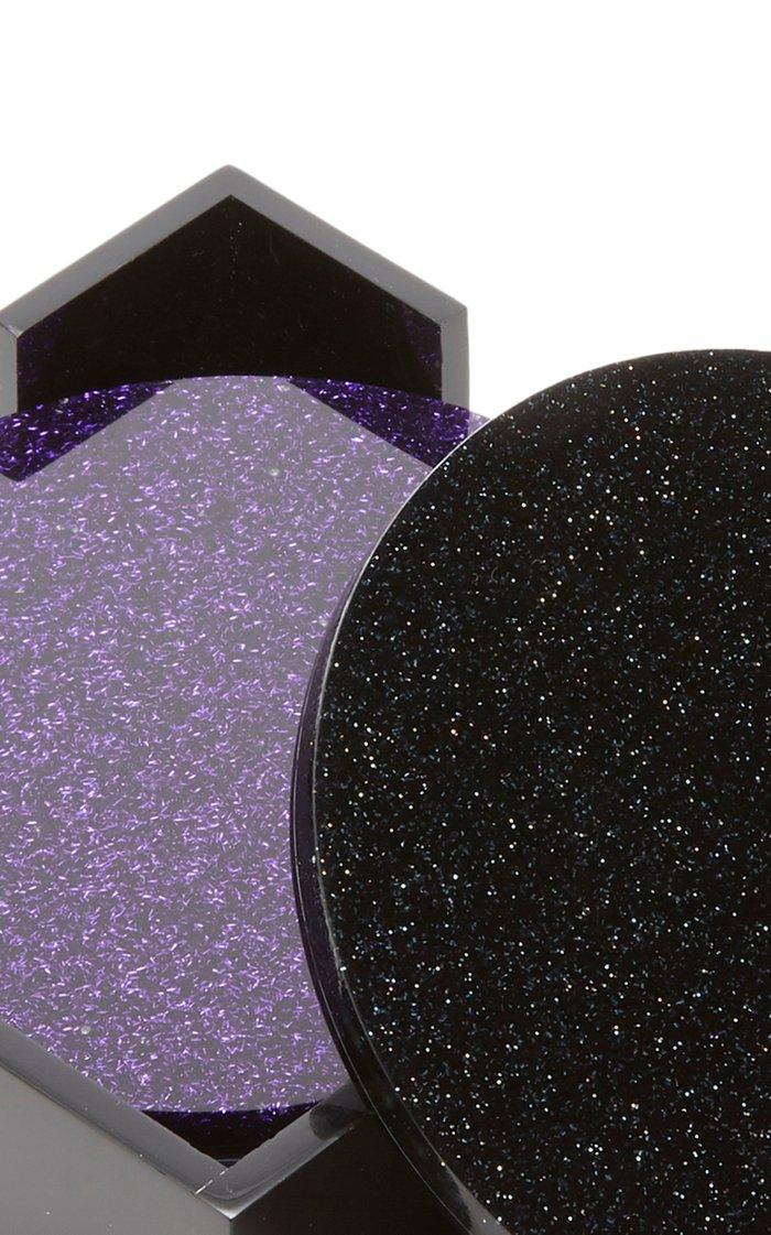 Set-of-Four Glittered Coasters
