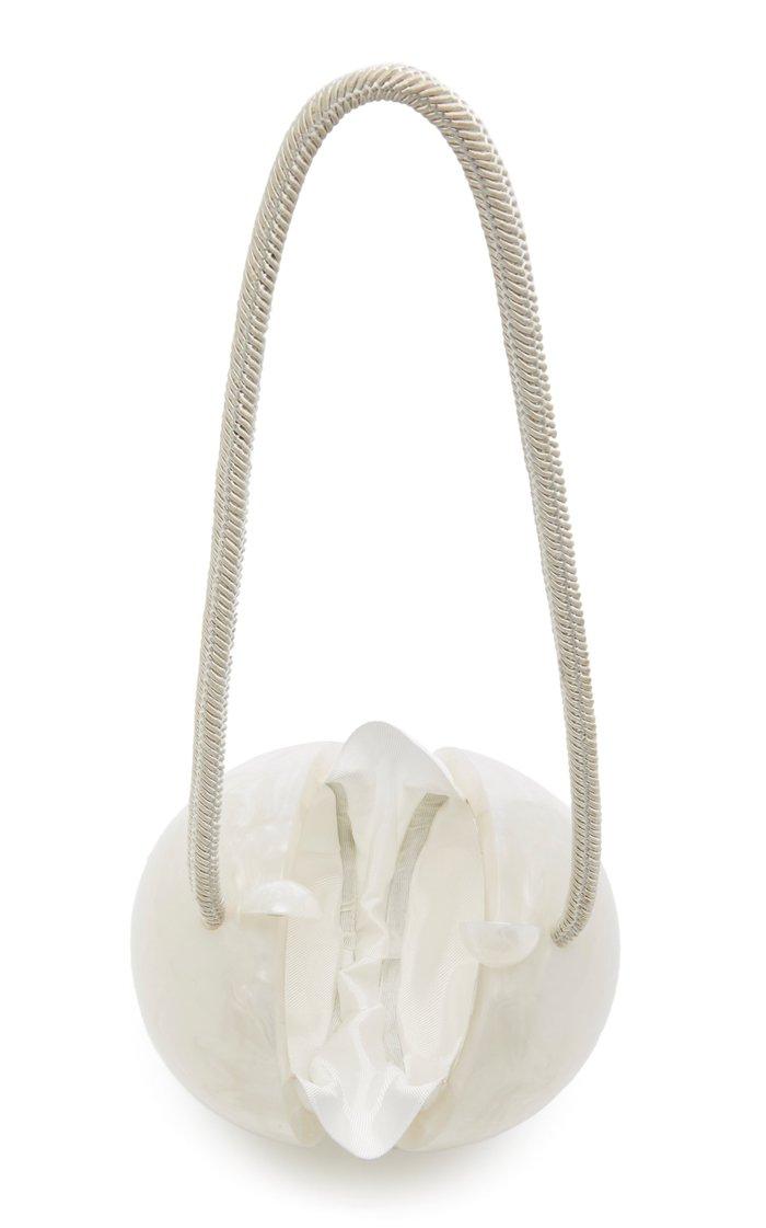 Lumen Tasseled Acrylic Clutch