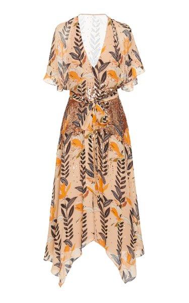 Bellflower Sequin Detail Chiffon Dress