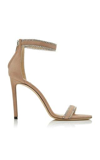 Dochas Crystal-Embellished Suede Sandals