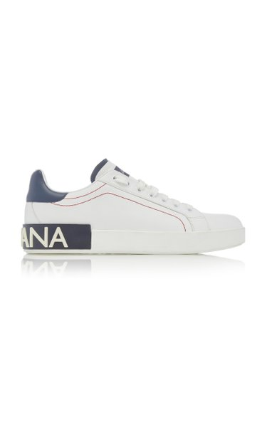Logo-Trimmed Leather Sneakers
