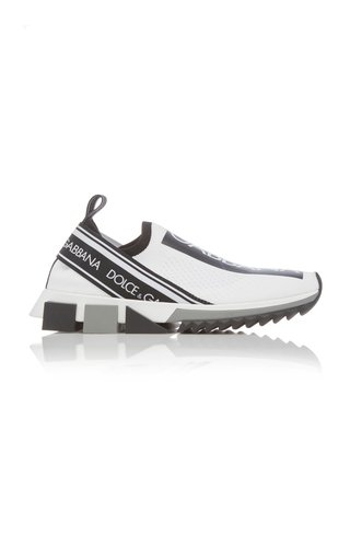 Logo-Trimmed Leather Slip-on Sneakers