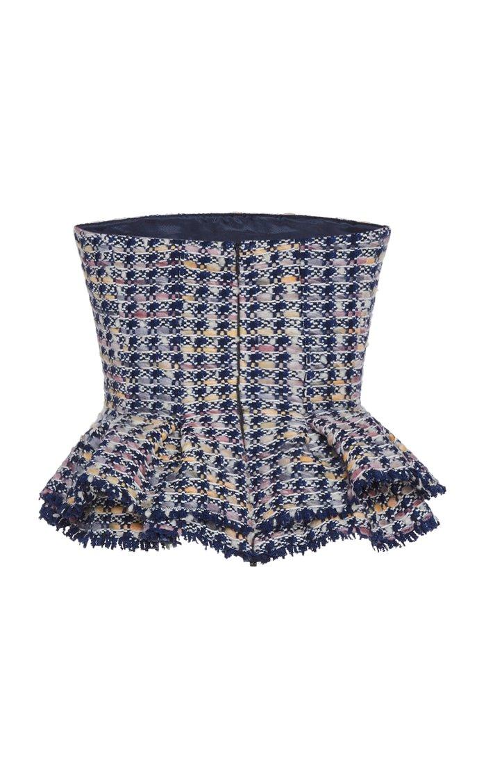 Palma Peplum Tweed Top