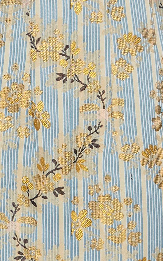 Pectolite Floral Cotton-Blend Midi Skirt