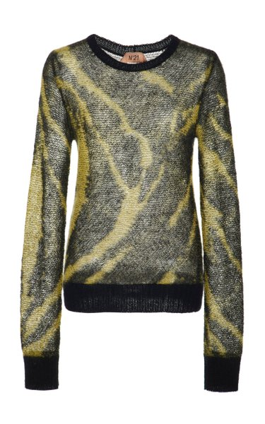 Norma Mohair-Blend Printed Sweater
