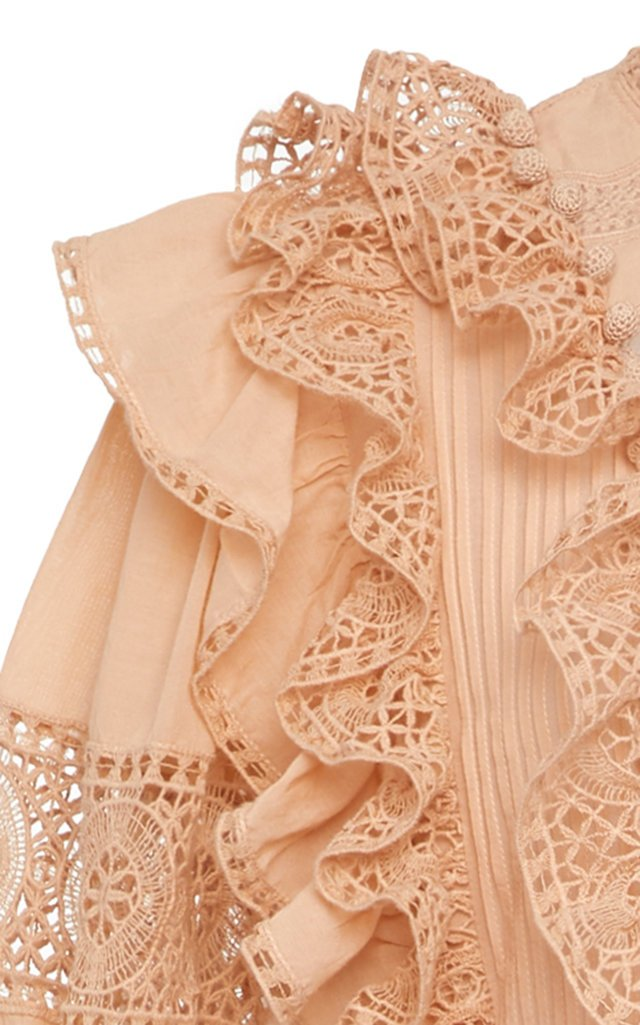 Guinivere Ruffled Cotton-Blend Maxi Dress