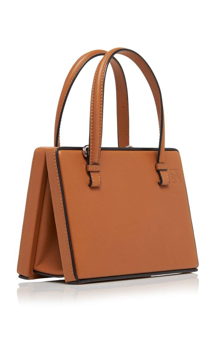 Small Postal Leather Top Handle Bag