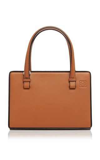 Small Postal Leather Top Handle Bag