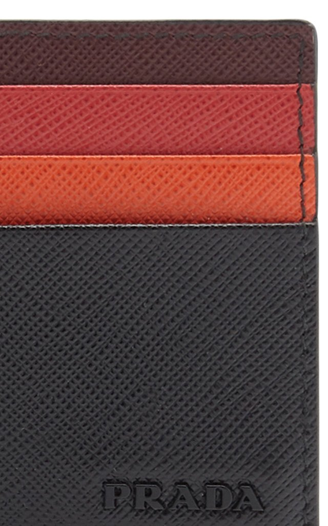 Multicolored Saffiano Leather Card Case